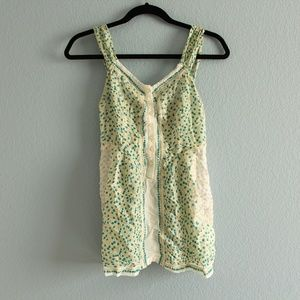 Free People floral tank top blouse